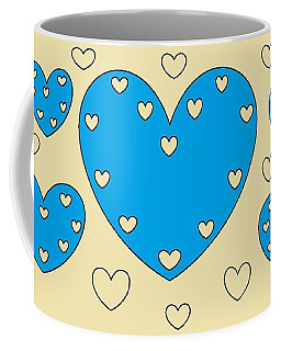 Just Hearts 4 Coffee Mug by Linda Velasquez