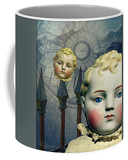 Coffee Mug featuring the digital art Just Like A Doll by Delight Worthyn