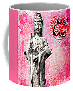 Coffee Mug featuring the mixed media Just Love by Lita Kelley