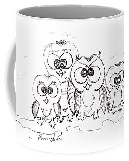 Just The Four Of Us Coffee Mug by Ramona Matei
