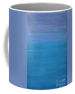 Coffee Mug featuring the painting Just Under The Surface II by Kim Nelson
