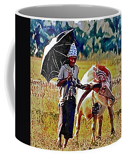Just Walking His Water Buffalo Coffee Mug