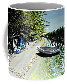 Coffee Mug featuring the painting Just You And I by Elizabeth Robinette Tyndall