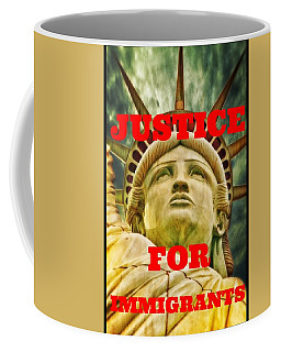 Justice For Immigrants II Coffee Mug by Peter Gumaer Ogden