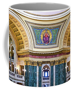 Justice Mural - Capitol - Madison - Wisconsin Coffee Mug