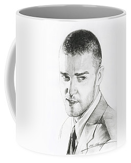 Justin Timberlake Drawing Coffee Mug