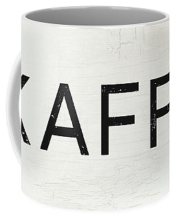 Coffee Mug featuring the mixed media Kaffe Sign- Art By Linda Woods by Linda Woods