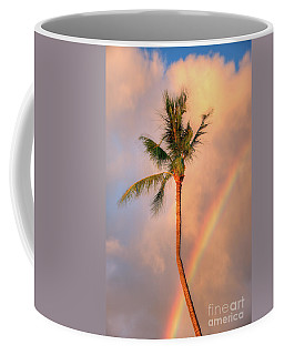 Kahekili Beach Park Rainbow Palm Coffee Mug