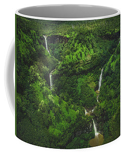 Kahili Falls Aerial Coffee Mug