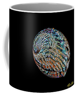 Coffee Mug featuring the photograph Kaleidoscope Abalone by Rikk Flohr