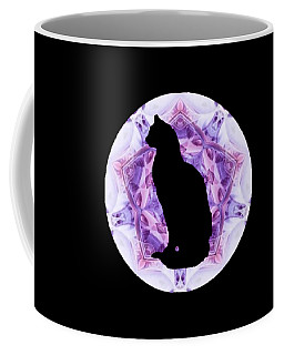 Kaleidoscope Cat Silhouette Coffee Mug