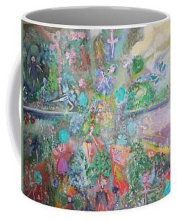 Kaleidoscope Fairies Too Coffee Mug by Judith Desrosiers