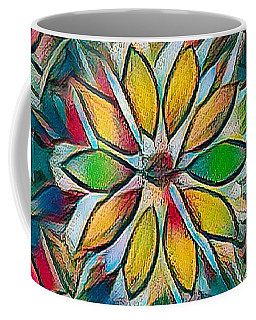 Kaleidoscope In Stained Glass Coffee Mug