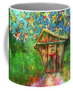 Coffee Mug featuring the painting Kaleidoscope Skies by Claire Bull