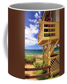 Coffee Mug featuring the photograph Kamaole Beach Lifeguard Tower by James Eddy