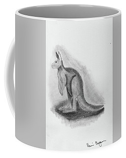 Kangaroo Drawing Coffee Mug