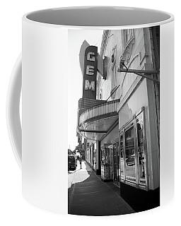 Coffee Mug featuring the photograph Kansas City - Gem Theater 2 Bw  by Frank Romeo