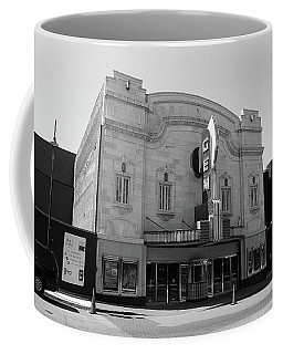 Coffee Mug featuring the photograph Kansas City - Gem Theater Bw by Frank Romeo