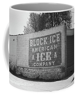 Coffee Mug featuring the photograph Kansas City Ghost Mural Bw by Frank Romeo