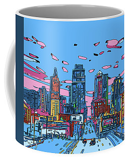 Kansas City Skyline Panorama 4 Coffee Mug