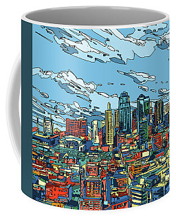 Kansas City Skyline Panorama Coffee Mug