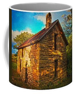 Kansas Countryside Stone House Coffee Mug