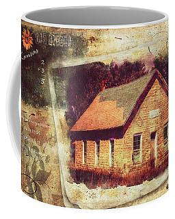 Kansas Old Stone Schoolhouse Coffee Mug