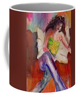 Karini In Blue Jeans Coffee Mug