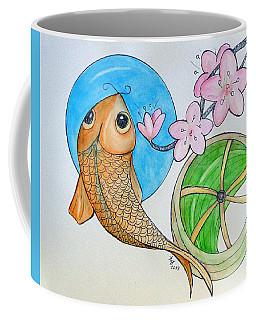Karp And Cherry Blooms Coffee Mug