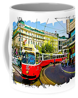 Kartner Strasse - Vienna Coffee Mug by Tom Cameron