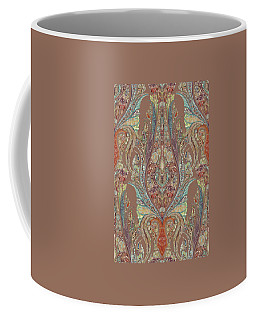 Coffee Mug featuring the painting Kashmir Elephants - Vintage Style Patterned Tribal Boho Chic Art by Audrey Jeanne Roberts