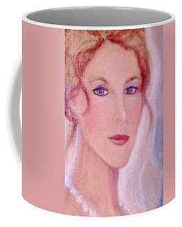 Coffee Mug featuring the drawing Kate by Denise Fulmer