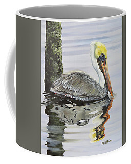 Coffee Mug featuring the painting Kathy's Pelican by Phyllis Beiser