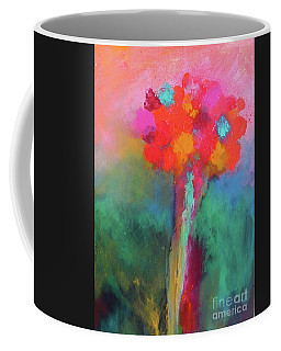 Katie's Beautiful Flowers. Painting. Coffee Mug