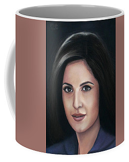 Katrina Kaif - Pastel Coffee Mug by Vishvesh Tadsare