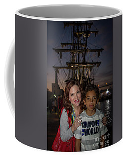 Coffee Mug featuring the photograph Katy And Baby James Art by Reid Callaway