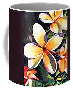 Kauai Rainbow Plumeria Coffee Mug