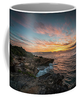 Coffee Mug featuring the photograph Kauai Seascape Sunrise by James Udall