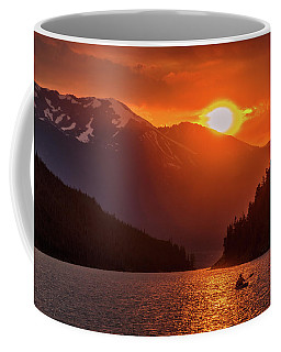 Kayak In The Sunset Glow Coffee Mug