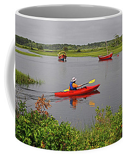 Kayaking On The Herring River Coffee Mug