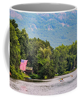 Kayaking On Nashawannuck Pond Easthampon Coffee Mug