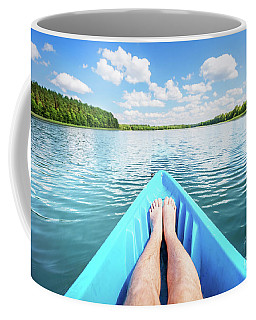 Kayaking On The Lake. Coffee Mug