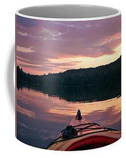 Coffee Mug featuring the photograph Kayaking Under A Gorgeous Sundown Sky On Concord Pond by Joy Nichols