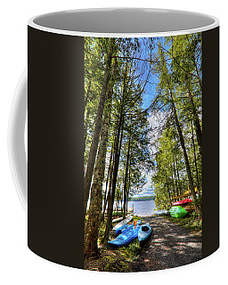 Coffee Mug featuring the photograph Kayaks At Palmer Point by David Patterson