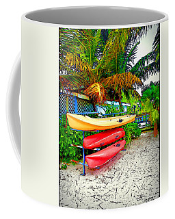 Kayaks In Paradise Coffee Mug