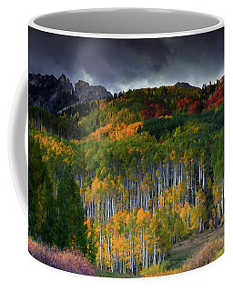 Coffee Mug featuring the photograph Kebler's Coat Of Many Colors by John De Bord
