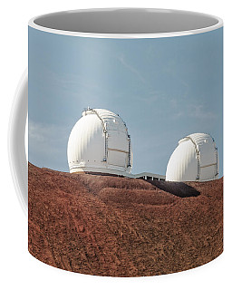 Coffee Mug featuring the photograph Keck 1 And Keck 2 by Jim Thompson