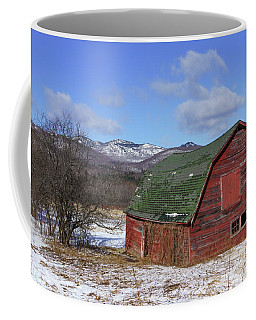 Coffee Mug featuring the photograph Keene Barn by Brad Wenskoski