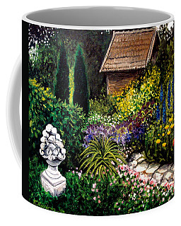 Coffee Mug featuring the painting Keeper Of The Garden by Elizabeth Robinette Tyndall