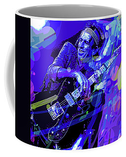 Keith Richards Blue Coffee Mug